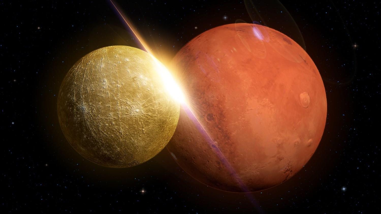 mars compared to mercury - HD1500×844